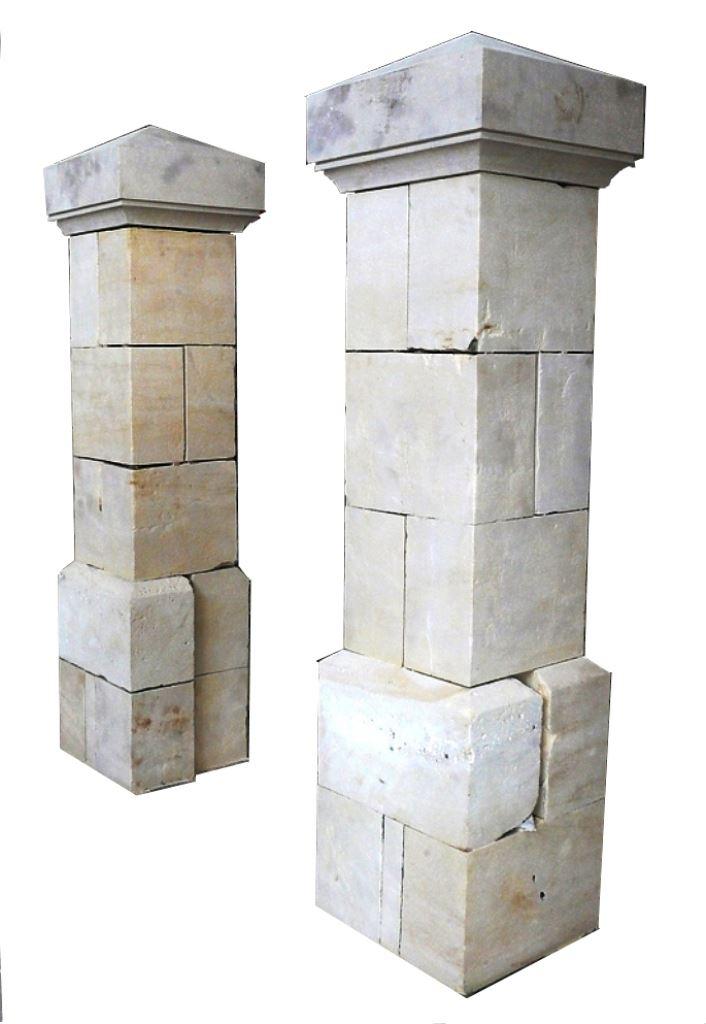 Old materials stone decoration pillar en