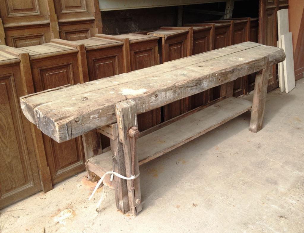 materiaux anciens bois et boiserie table en bois. Black Bedroom Furniture Sets. Home Design Ideas