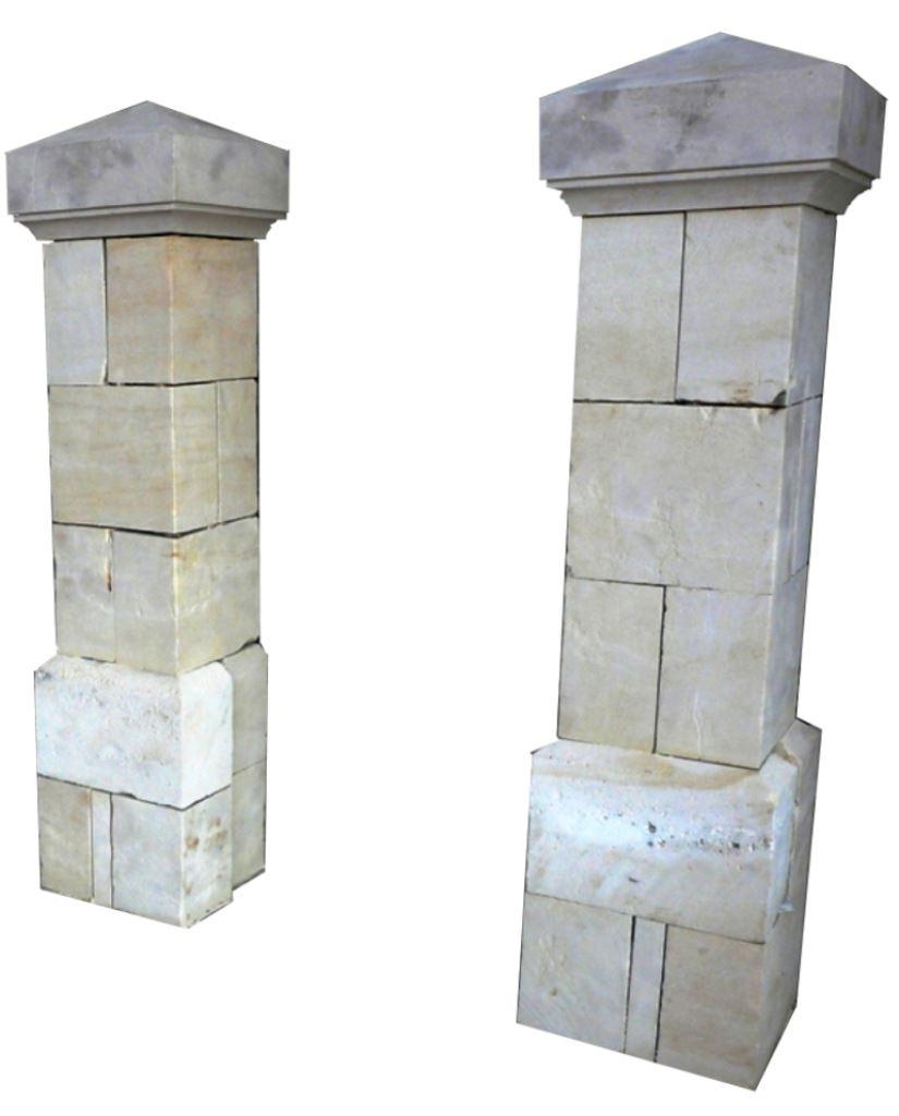 materiaux anciens element de decoration pilier en pierre. Black Bedroom Furniture Sets. Home Design Ideas